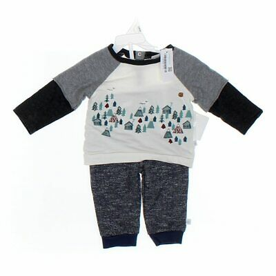 Rosie Pope Baby Boys Shirt, size 12 mo,  grey, white, multi colored,  cotton