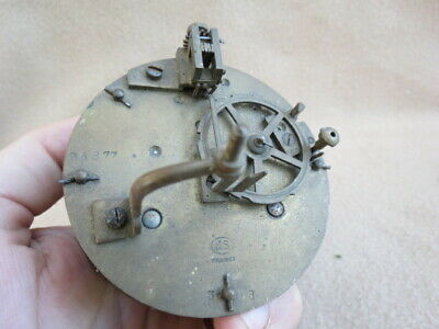 Antique French Js Clock Movement For Spares Or Repair