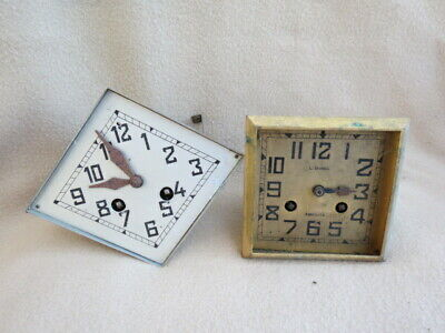 X 2 Antique French Striking Clock Movements For Spares Or Repair  (Lot 1)