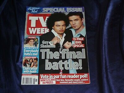 Australian TV Week Magazine Nov 2003 Home and Away McLeod's 15 page IDOL Special