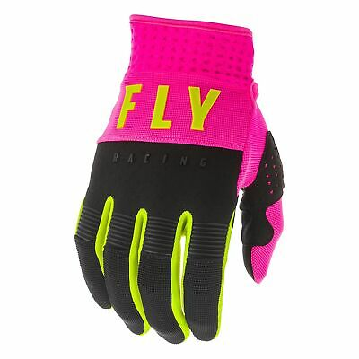Fly Racing F-16 Boys Gloves Mx Glove - Neon Pink Black Hi-vis All Sizes