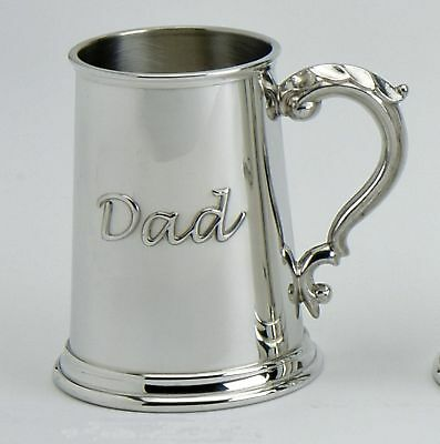 "Pewter 1pt "" Dad "" Tankard"