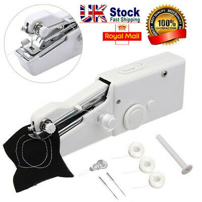 Mini Portable Handheld Sewing Machine Stitch Cordless Clothes Fabric Electric SC