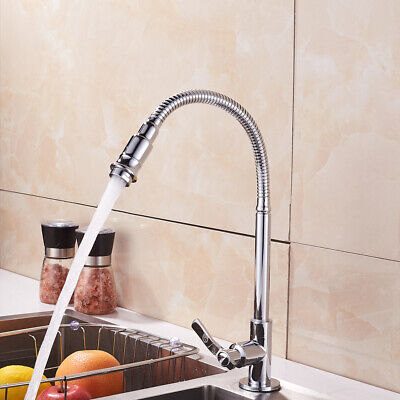 360 Degree Swivel Single-Tube Kitchen Sink Flexible Faucet Basin Only Cold Water