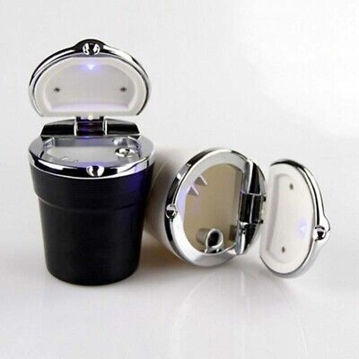 Cigarette Ashtray Smoking Ash Cylinder holder with cover lid LED for car home
