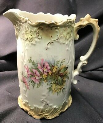 Antique Porcelain Water Pitcher Jug Beautiful Antique China