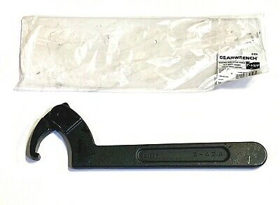 GEARWRENCH 3//4 to 2 Adjustable Hook Black Oxide Spanner Wrench 81854