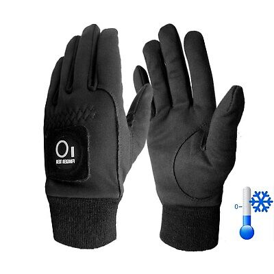 Mens Winter Golf Gloves 1 Pair Winter Warm Windproof with Ball Marker Black Gift