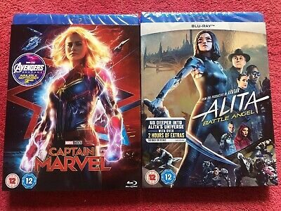 Alita And Captain Marvel Blu-ray Brand New And Sealed