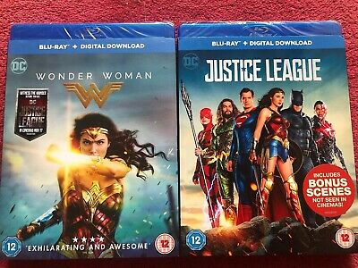 Justice League And Wonder Woman Blu-Ray SEALED