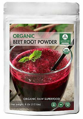 Organic Beet Root Powder (8 ounces), Raw & Non-GMO | Nitric Oxide Booster