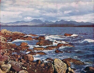 Hills of Torridon from Gairloch, Scotland 1954 Vintage Colour Print THIC#51
