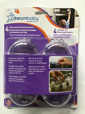 NEW Baby SAFE Dreambaby BABY PROOFING stove and oven knob covers 4 pack