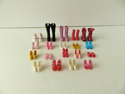 Mattel ~ Barbie Doll Shoes ~ Heels Flats Boots Sneakers ~ Lot of 19 Pairs ~