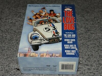 Disney HERBIE The Love Bug Complete 4-Film DVD Collection (5 Discs) NEW/SEALED