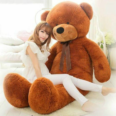 72in Huge Big Large Teddy Bear Plush Soft Toys Doll Brown Stuffed Animals Gift