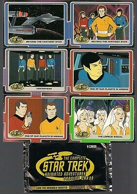Star Trek Complete Animated Adventures Ra 2003 Full 200 Card Base Set + Wrap Nm