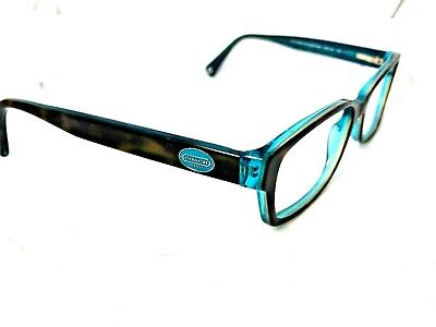 c8989e59a195 Coach Eyeglasses HC6040 Brooklyn 5116 Tortoise Teal Rectangular Frame [M19]