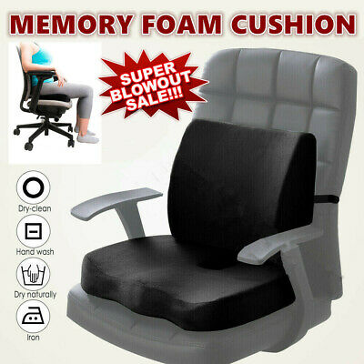 Memory Foam Seat Back Cushion Seat Cushion Back Pillow Support Waist Pain Relief