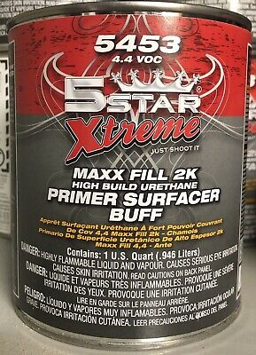 5 Star 2K High Build Urethane BUFF Primer w/Activator Quart Kit PPG AXALTA NASON