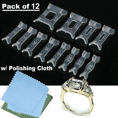 10 X Invisible Design Ring Size Reducer Resizer Adjuster Clip Guard SNUGGIES Set