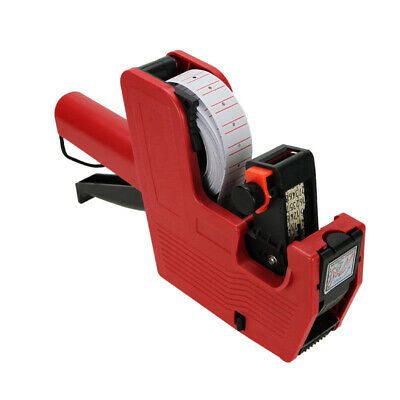 New MX-5500 8 Digits EOS Price Tag Gun + White w/ Red Lines Labels + 1 Ink@RC