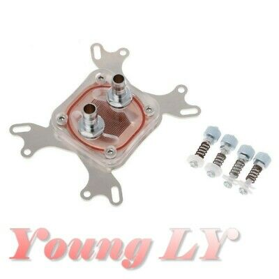 Stainless CPU Water Cooling Block 50 mm Copper Base Waterblock Transparent Cover