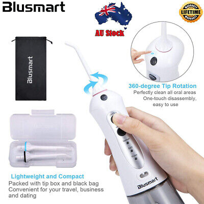 Blusmart water flosser cordless Oral Irrigator Rechargeable with 4 Jet Tips IPX7