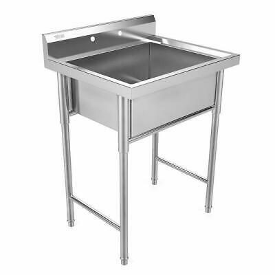 "30"" New Commercial Grade Stainless Steel Utility Sink Laundry Room Tub Slop Sink"