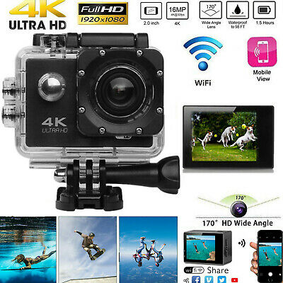 1080P HD Ultra 4K  WIFI Waterproof Camcorder Sport Action Camera DVR recorder UK