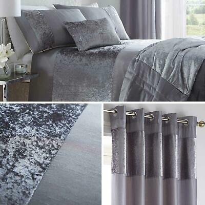 Grey Duvet Covers Faux Silk Crushed Velvet Quilt Cover Bedding Sets Collection