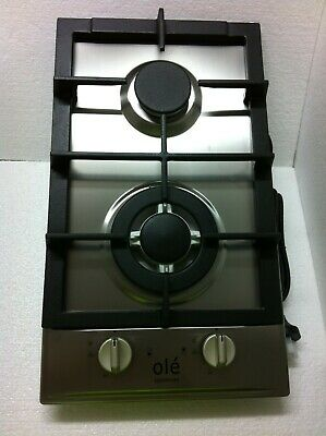 30cm 2 BURNER STAINLESS STEEL GAS COOKTOP - BRAND NEW IN BOX