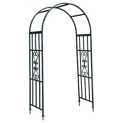 Woodside Traditional Decorative Metal Garden Rose Arch Archway Plant Support