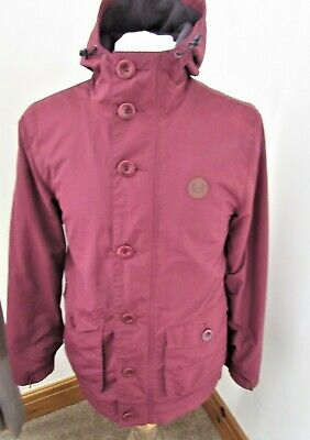 MEN'S FRED PERRY Parka PortClaret Jacket Mod Scooter Casual