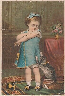 Victorian Trade Card Naughty Puss Dr Jaynes Tonic Vermifuge Fayette Co Illinois