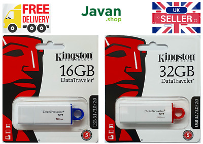 Kingston DataTraveler G4 16/32GB USB Drive - Flash Stick Pen Storage