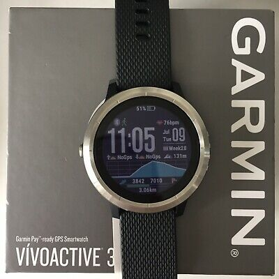 GARMIN VIVOACTIVE 3 Black with Stainless Hardware GPS