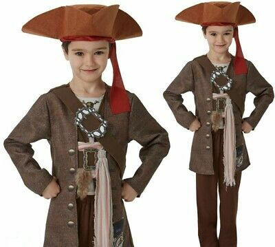 Child CAPTAIN BLACKHEART PIRATE Boys Fancy Dress Book Week Jack Sparrow Age 3-13