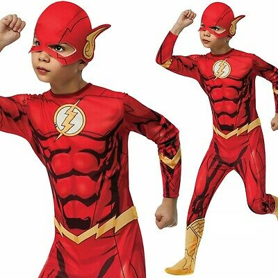 Licensed Boys Kids Official Flash Costume Superhero Child Fancy Dress Cosplay Ou