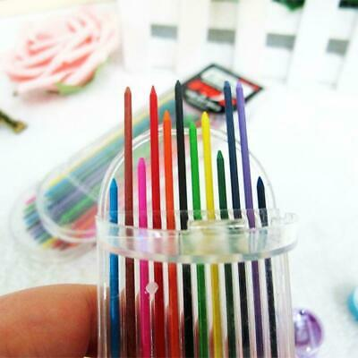 Newly 2.0mm 2B Colored Pencil Lead 2mm Mechanical Clutch Refill 12 Colors H W7X2