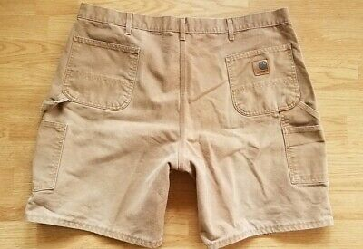 Carhartt Washed Duck Work Canvas Carpenter Shorts Brown Cotton Sz 44 Made in USA