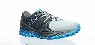 Saucony Womens Xodus Iso 2 Grey/Blue Running Shoes Size 11 (244110)
