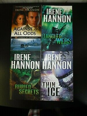 "Lot Of 4 "" Irene Hannon "" 1-3 In The Men Of Valor Series Buried Secrets Thin Ice"