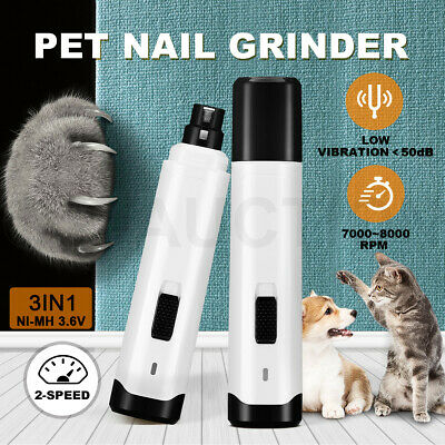 Electric Rotary Pet Nail Trimmer Grinder Clippers Dog Cat Nail Filing Tool