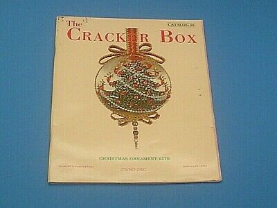 1992 The Cracker Box Christmas Ornament Kits~Over 200 Large Color Illustrations