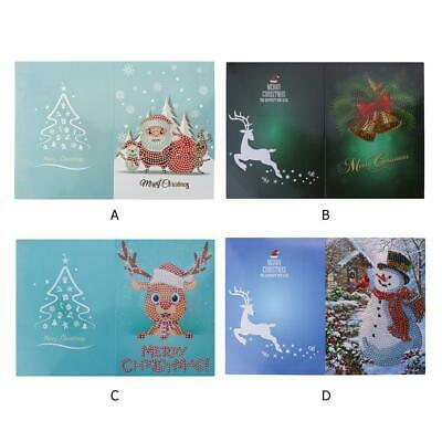 5D DIY Diamond Painting Christmas Greeting Cards Cross Stitch Embroidery t