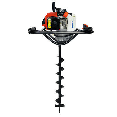 """63CC 2 Stroke Gas-Powered Powerhead Post Hole Digger with 4"""" Digging Bit"""