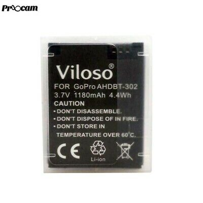 New Proocam Viloso GOPRO Hero 3 rechargeable camera Battery (AHDBT-302)