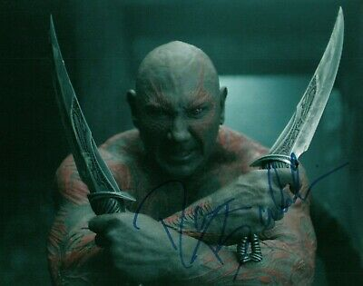 Dave Bautista Actor Guardians Of The Galaxy Signed 8x10 Autographed Photo COA 1