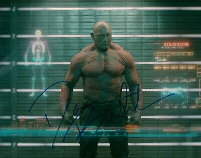 Dave Bautista Actor Guardians Of The Galaxy Signed 8x10 Autographed Photo COA 2